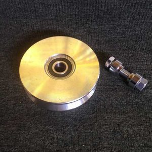 V Groove Wheel steel four and a half inch photo